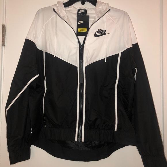 03803439e9 Black + White Nike Windbreaker
